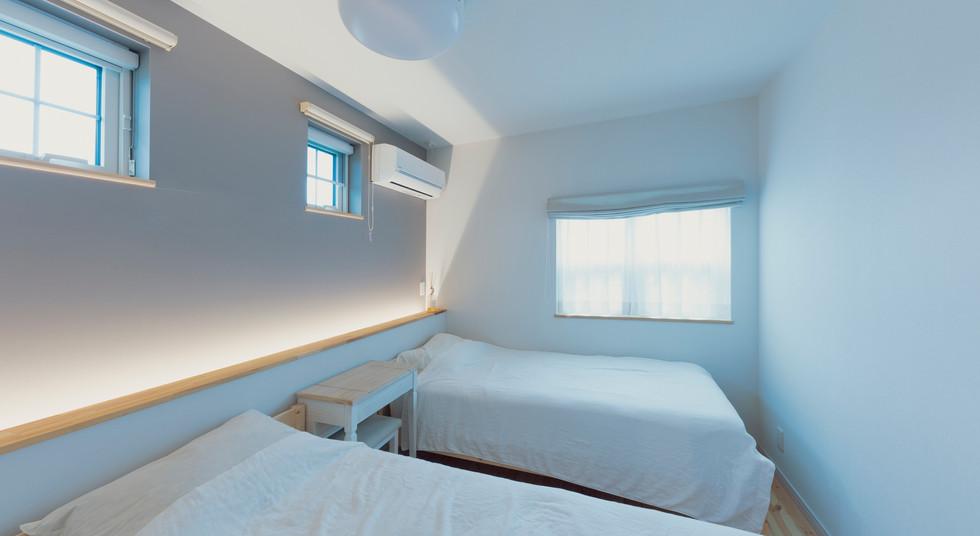 諫早の工務店スマイフルホームで新築した島原の注文住宅のベッドルーム