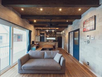 諫早市の工務店スマイフルホームで新築した長崎の格好いい注文住宅のリビング