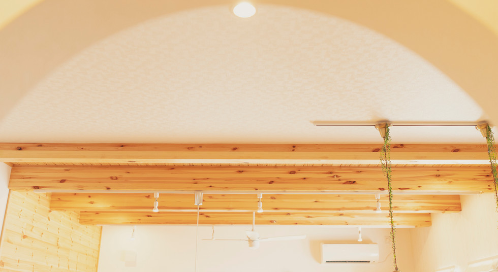 諫早市の工務店スマイフルホームで新築した長崎の注文住宅の天井