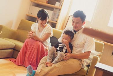 長崎の住宅会社スマイフルホームをイメージする家族写真