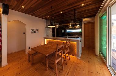 諫早市の工務店スマイフルホームで新築した長崎の格好いい注文住宅のLDK