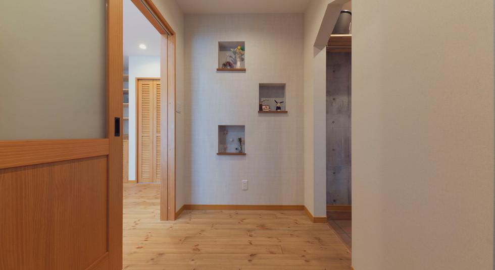 諫早の工務店スマイフルホームで新築した大村の注文住宅の廊下