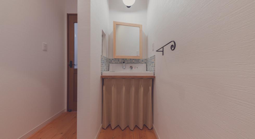 諫早の工務店スマイフルホームで新築した大村の注文住宅の洗面台