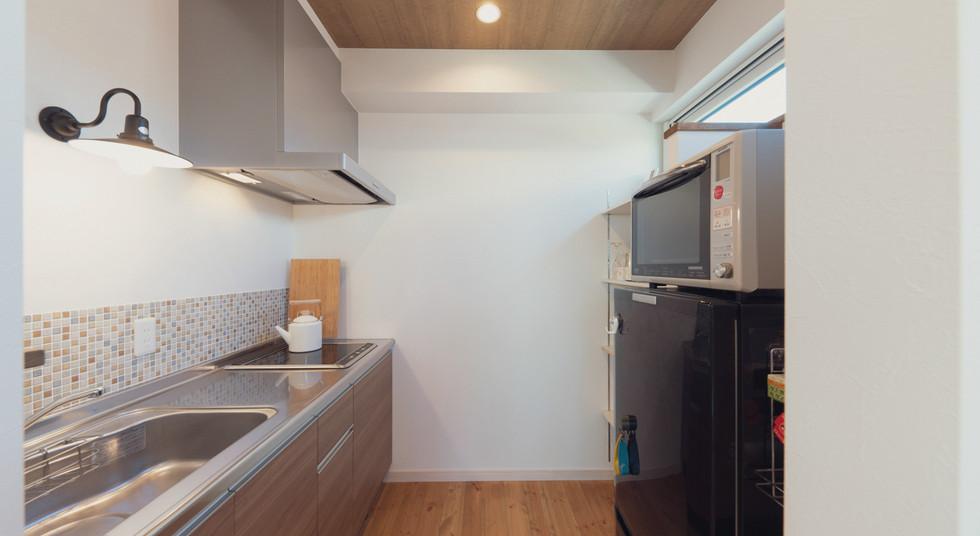 諫早の工務店スマイフルホームで新築した大村の注文住宅の2Fキッチン
