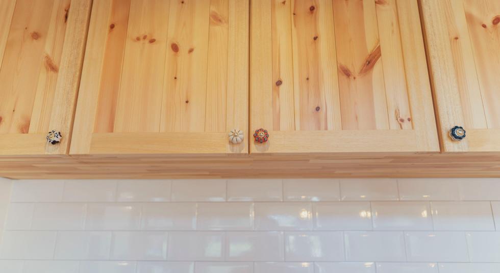諫早の工務店スマイフルホームで新築した島原の注文住宅の無垢棚