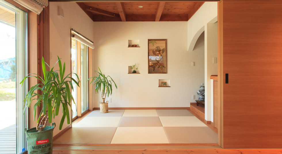 諫早市の工務店スマイフルホームで新築した長崎の注文住宅の和室スペース