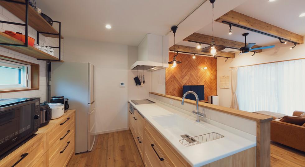 諫早の工務店スマイフルホームで新築した大村の注文住宅のキッチン