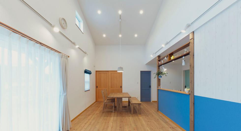 諫早の工務店スマイフルホームで新築した大村の注文住宅のリビングルーム