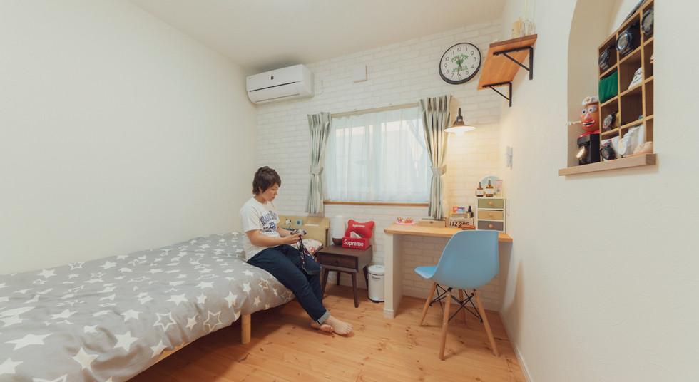 諫早の工務店スマイフルホームで新築した大村の注文住宅のベッドルーム