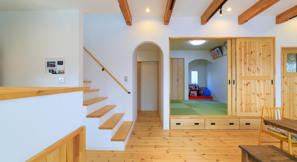 諫早市の工務店スマイフルホームで新築した長崎の注文住宅の小上がり和室