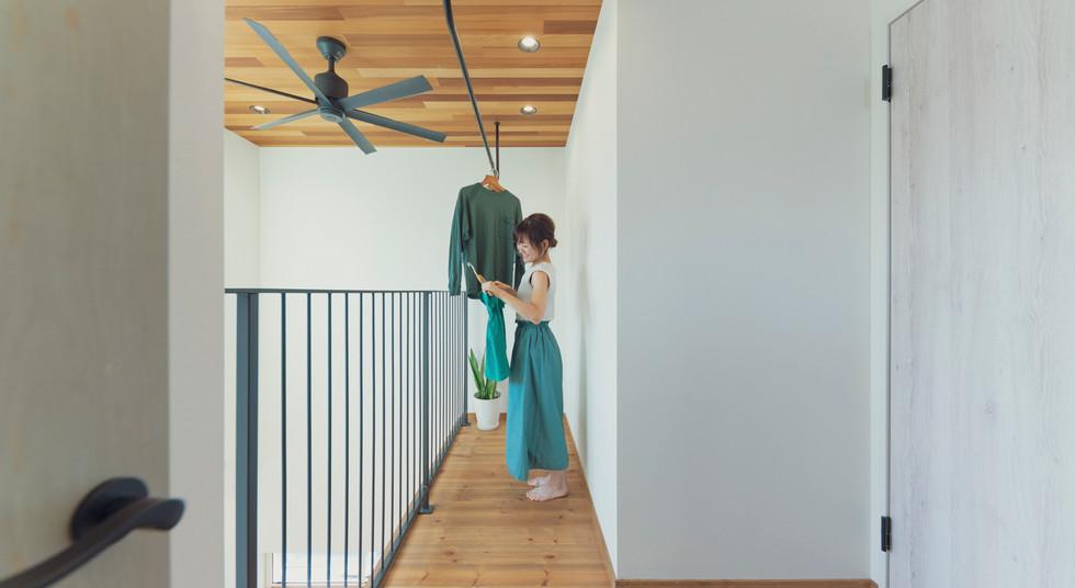 諫早の工務店スマイフルホームで新築した島原の注文住宅の2Fスペース