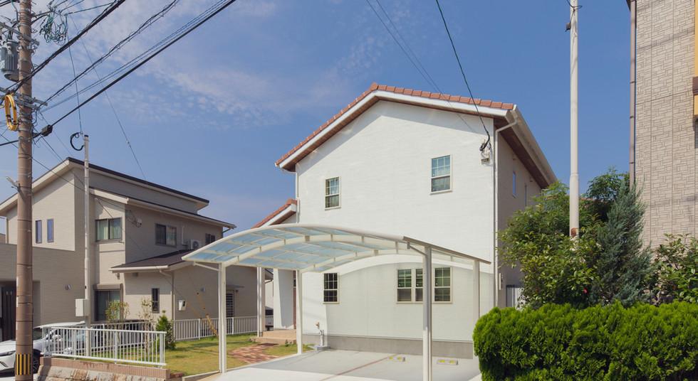 諫早市の工務店スマイフルホームで新築した長崎の注文住宅の外観