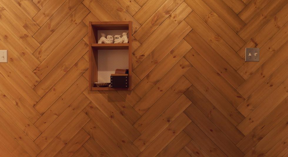 諫早市の工務店スマイフルホームで新築した長崎の注文住宅のヘリンボーン
