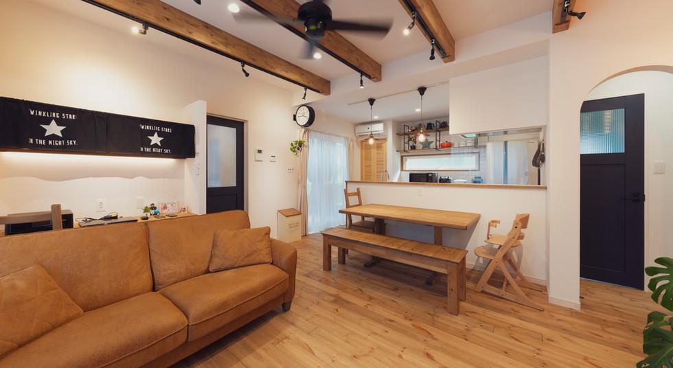 諫早の工務店スマイフルホームで新築した大村の注文住宅のLDK