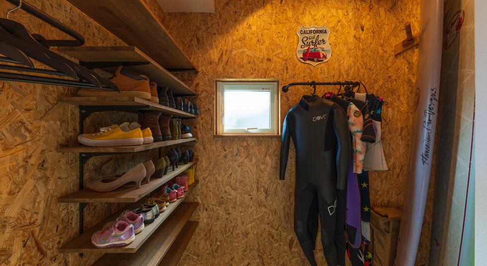 諫早の工務店スマイフルホームで新築した大村の注文住宅のクローク