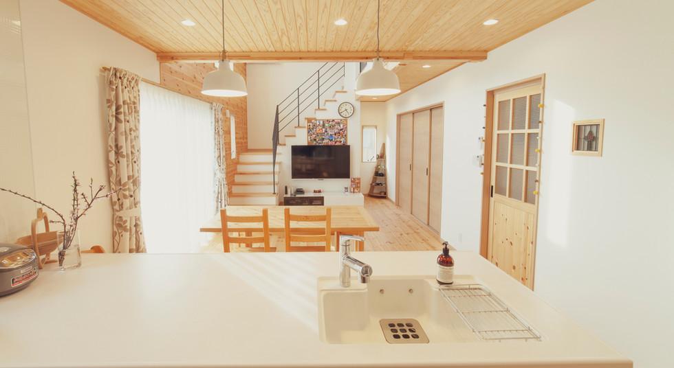 諫早市の工務店スマイフルホームで新築した長崎の可愛い注文住宅のLDK