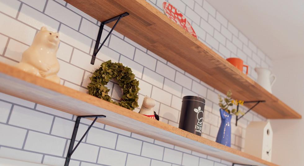 諫早市の工務店スマイフルホームで新築した長崎の注文住宅のキッチン棚