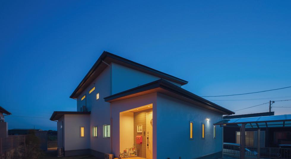 諫早の工務店スマイフルホームで新築した大村の注文住宅の外観