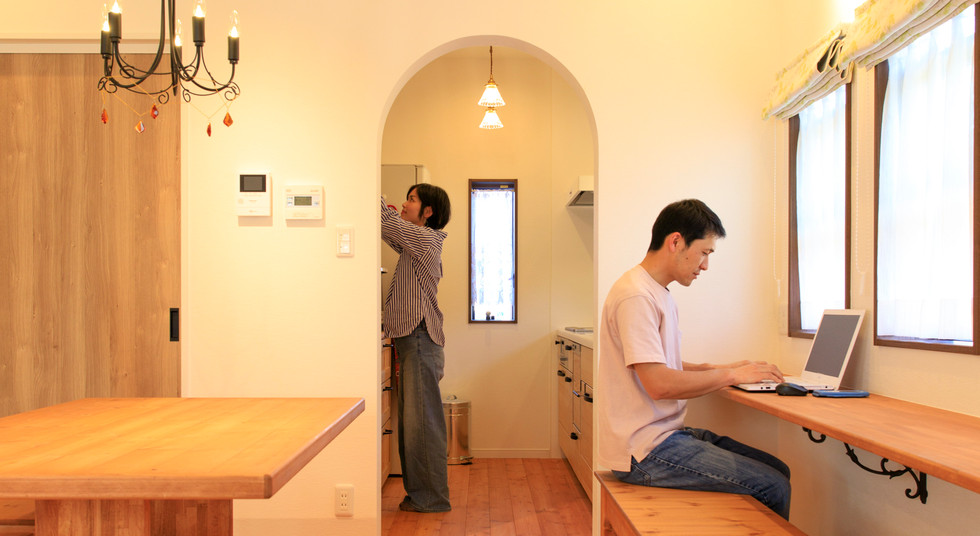 諫早市の工務店スマイフルホームで新築した長崎の注文住宅のワークデスク