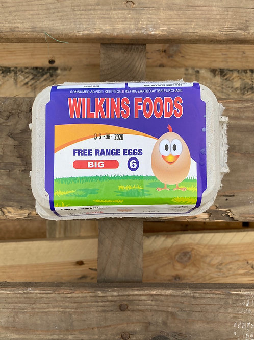 Large Free Range Eggs x 6