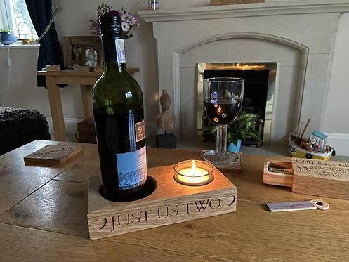 Oak Bottle & Tea-Light Holder