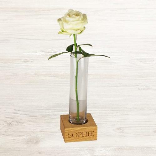 Single Vase in Oak