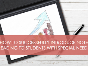 How to Successfully Introduce Note Reading to Students With Special Needs.