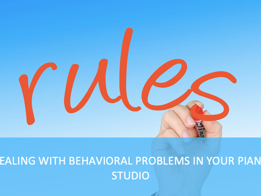 Dealing With Behavioral Problems In Your Piano Studio