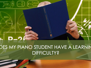 Does My Piano Student Have a Learning Difficulty?