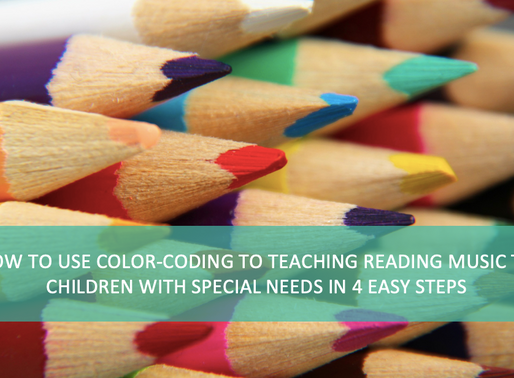 How to use color-coding to teach reading music to children with special needs in easy 4 steps.
