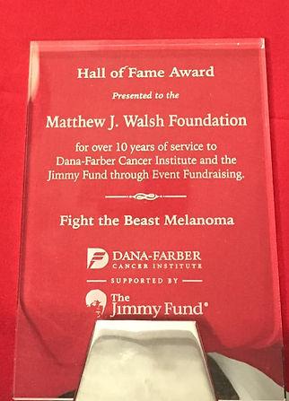 Dana-Farber Hall of Fame Award IMG_0254.