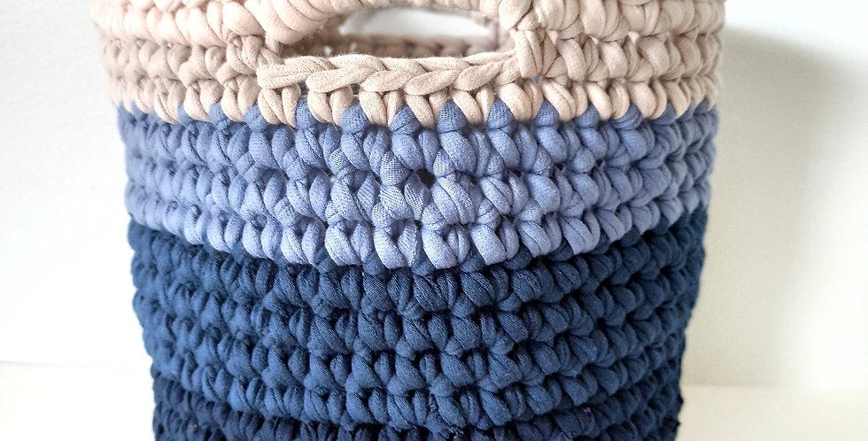 Crochet Basket 'Pacific Ocean'