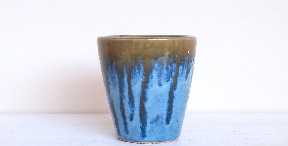 Blue Gold Ceramic Pot Small
