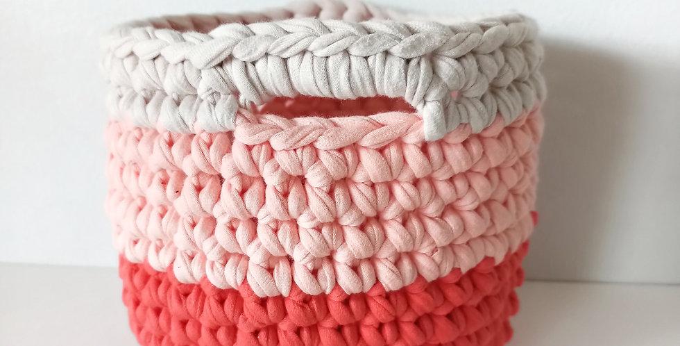 "Crochet Basket ""Papaya"""