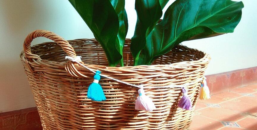 Rattan Basket with Handles