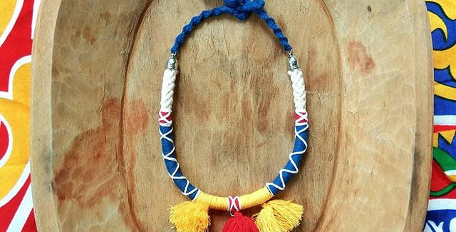 'Egypt' textile necklace