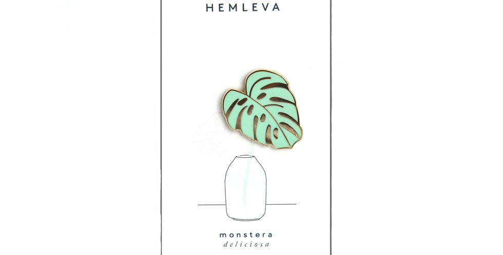 Hemleva monstera pin