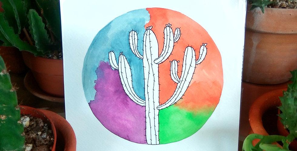 Handmade art 'Desert Cactus'