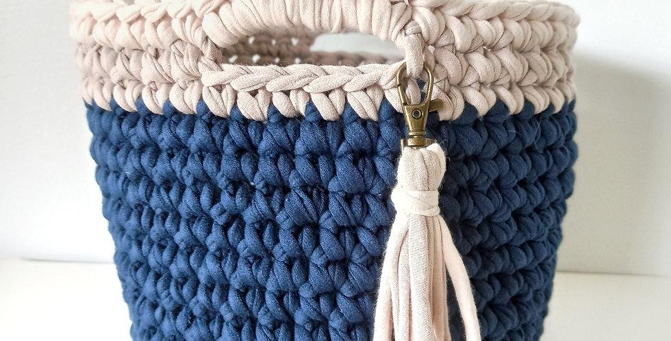 Cesta de crochet 'Moby Dick'