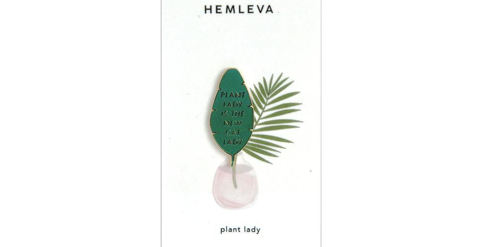 Hemleva Plant lady pin