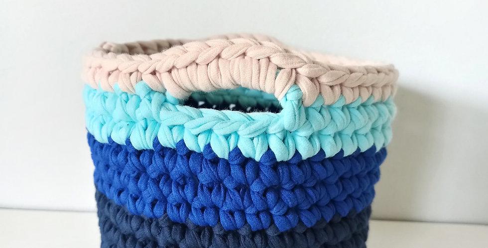 Cesta de Crochet Náutica