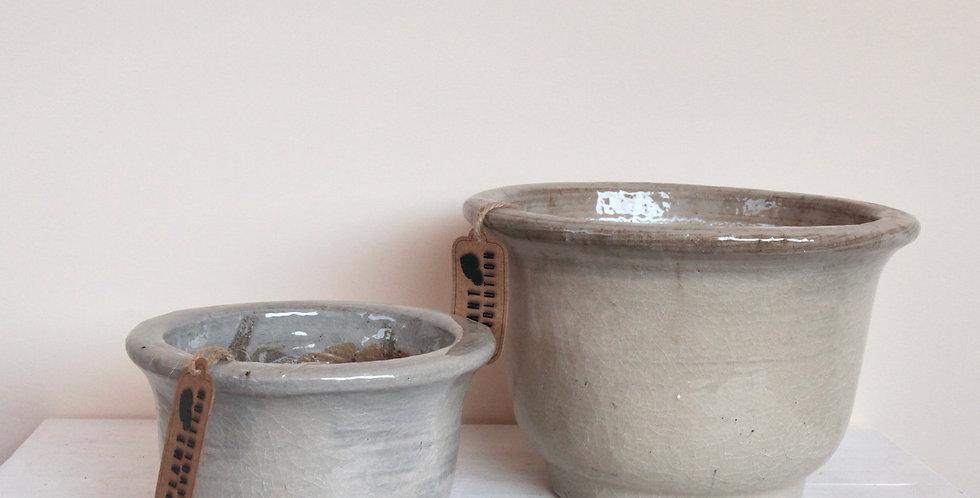 Light Grey Ceramic Pot