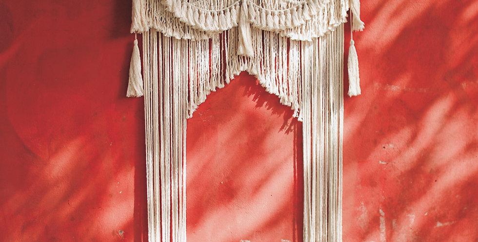 Cortina de macrame de fondo de boda  'Marrakech'
