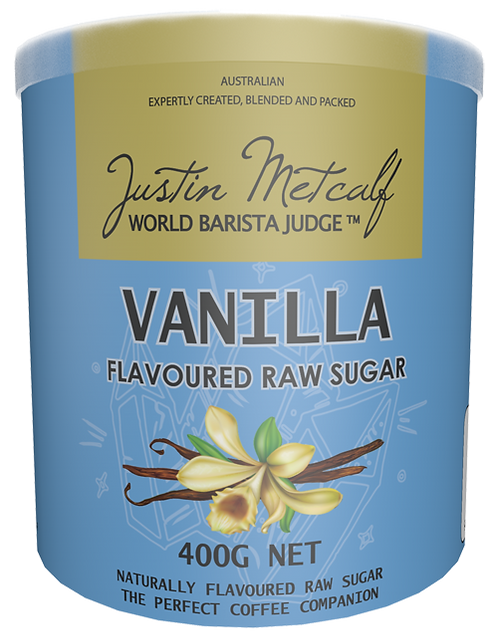 Vanilla Flavoured Raw Sugar 400g