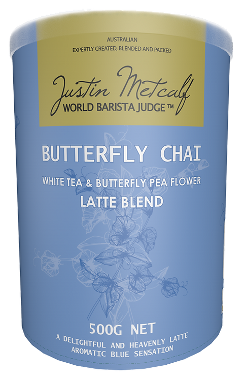 Butterfly Chai (White Tea & Butterfly Pea Flower) Latte Blend 500g