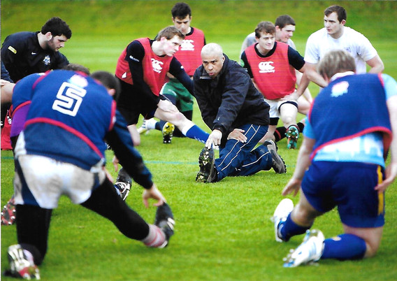 England Students RFU warm up