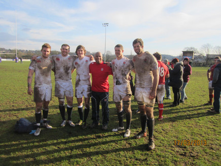 England Students RFC celebrate our win over Wales Students RFC