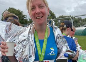 Colin overrides poor run technique for Marie to half marathon success!