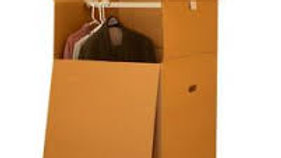 Hanging box for clothes