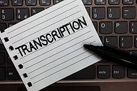 Text sign showing Transcription. Concept